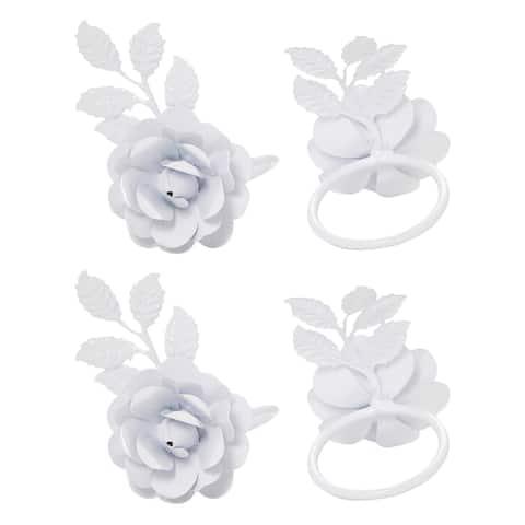 Napkin Rings Set of 8 (White Rose)