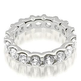 5.25 cttw. 14K White Gold Stylish U-Prong Round Cut Diamond Eternity Band Ring