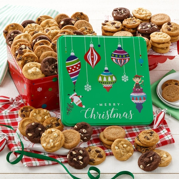 Mrs. Fields. Merry Christmas 90 Nibblers® Bite-Sized Cookie Tin. Opens flyout.