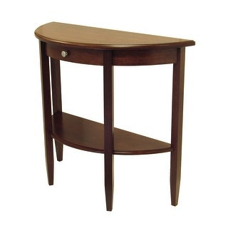"""Link to 39"""" Half Moon Console Hall Table with Drawer and Shelf Similar Items in Living Room Furniture"""