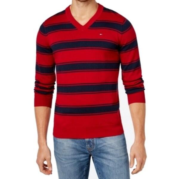 Shop Tommy Hilfiger Mens T Shirt Knit Striped 3XL Free
