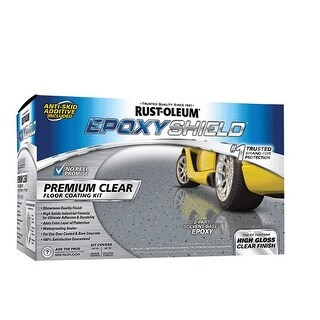 Rust-Oleum 292514 Epoxyshield Premium Floor Coating Kit, Clear, 90 OZ