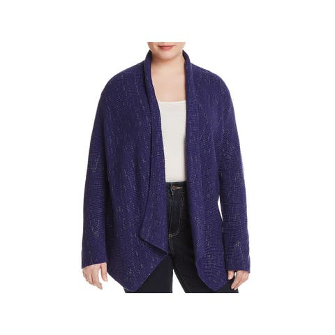 Nic + Zoe Womens Plus Pixel Pop Cardigan Sweater Fall Open Front