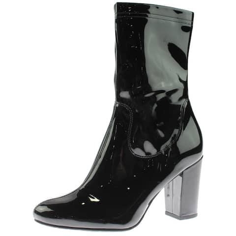 Kenneth Cole New York Womens Alyssa Ankle Boots Block Heel