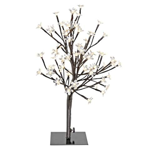 """River of Goods 20"""" High LED Cherry Blossom Tree - 18""""L x 12""""W x 20'H"""