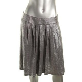 Eileen Fisher Womens Linen Metallic A-Line Skirt - M