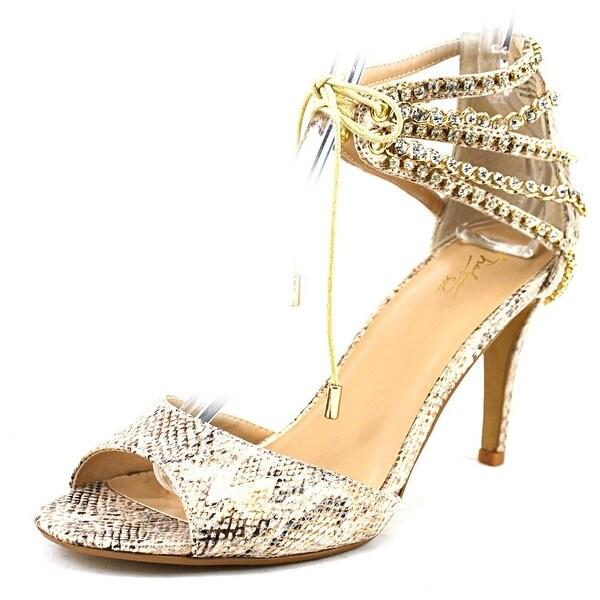 Thalia Sodi Evahly Women Open Toe Canvas Tan Sandals
