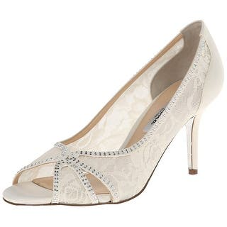 b0c678b5172802 Nina Womens forbers 2 Leather Open Toe Classic Pumps · Quick View