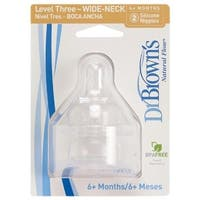 Dr. Brown's Level Three Wide-Neck Nipple - 2 Pack