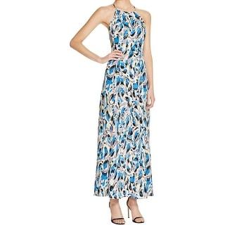 Aqua Womens Maxi Dress Printed Sleeveless