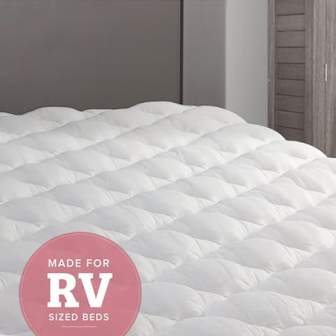 Kotter Home Extra Plush RV Mattress Pad Topper with Fitted Skirt (For Recreational Vehicles)