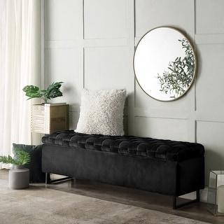 Link to Lilliana Upholstered Velvet Storage Bench Similar Items in Living Room Furniture