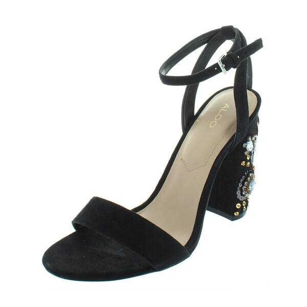 2f347c9dacc Aldo Womens Luciaa Dress Sandals Faux Suede Block Heel - 8 Medium (B