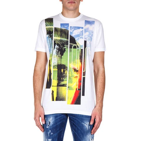 DSQUARED2 White Short Sleeve Graphic