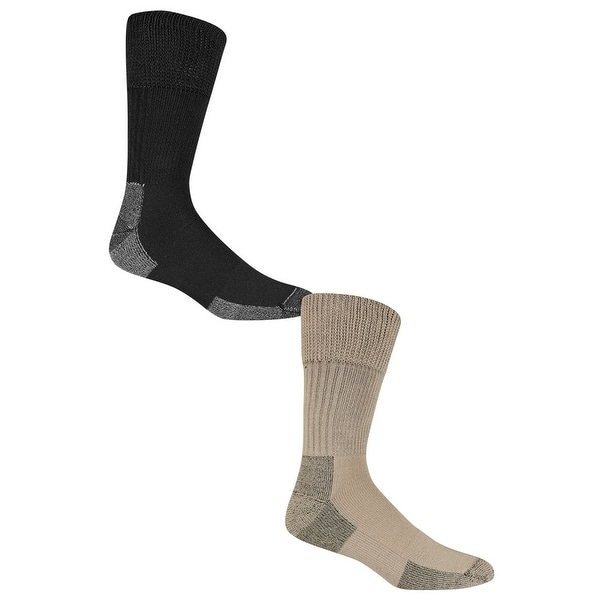 Dr. Scholl's Men's Advanced Relief Crew Socks - Anti-Microbial Socks (2 Pairs)