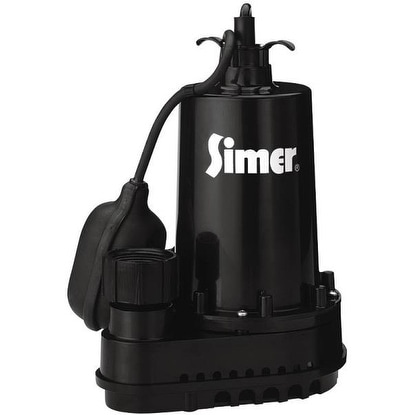 Simer 2165/2975PC Submersible Thermoplastic Sump Pump, 1/2 HP