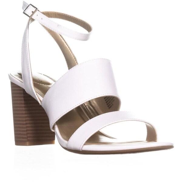 Bandolino Anchor Ankle Strap Heeled Sandals, White