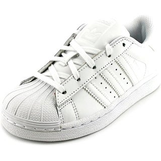 Adidas Super Foundation C Youth Round Toe Leather White Sneakers