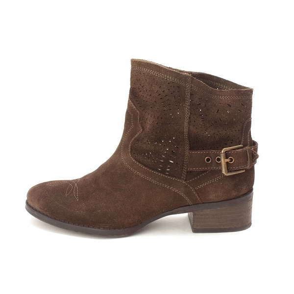 Naughty Monkey Womens Zoey Closed Toe Ankle Cowboy Boots, Brown, Size 8.5