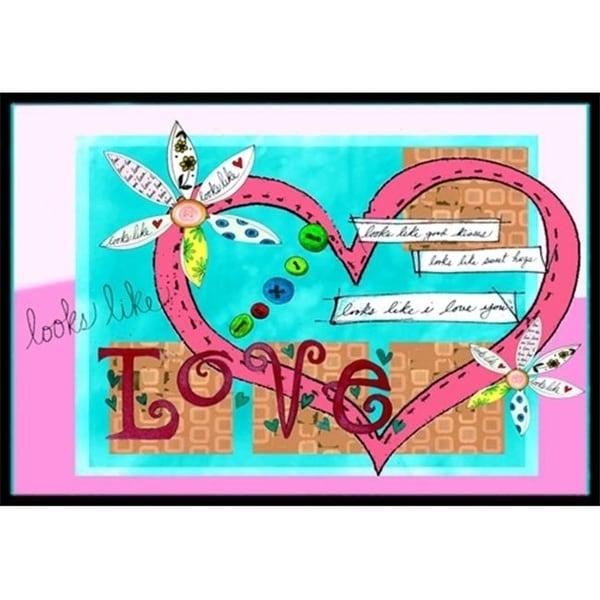 Carolines Treasures PJC1114JMAT Looks Like I Love You Valentines Day Indoor & Outdoor Mat 24 x 36 in.