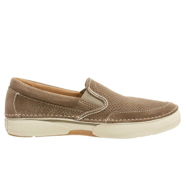 Sperry Mens Largo Slip On Leather Closed Toe Slip On, Suede Taupe, Size 13.0