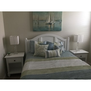 Bermuda Night Stand Brushed White Finish by Home Styles