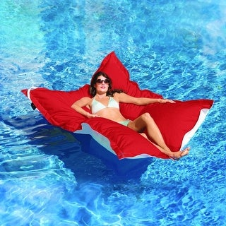 "King Kai Floating Logo Red Oversized Pool Float 72"" Long x 58"" Wide"