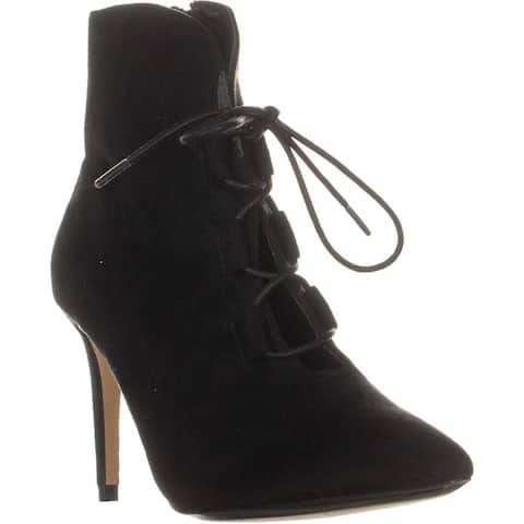 XOXO Tamilia Lace-Up Booties, Black