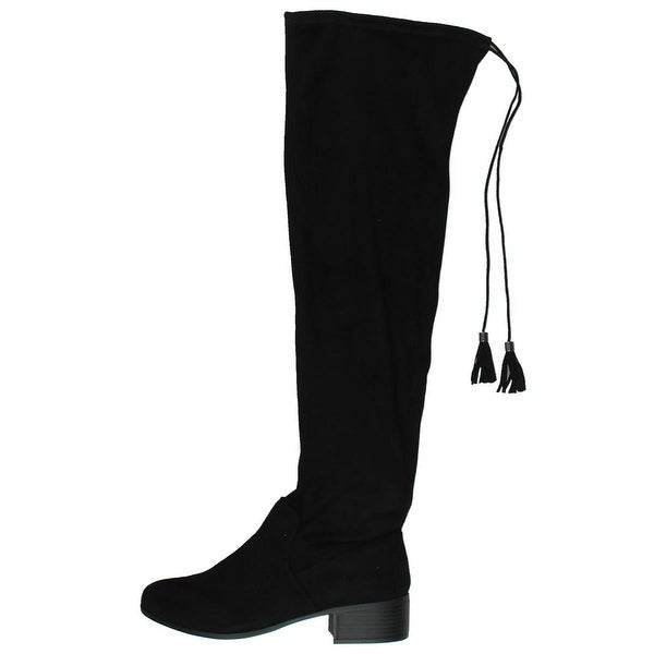 Madden Girl Womens Prissley Riding Boots Stretch Over-The-Knee