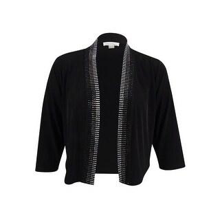 Calvin Klein Women's Embellished Jersey Shrug - Black (2 options available)