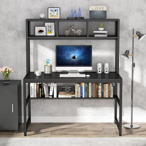 Computer Desk with Shelf and Hutch Writing Study Home Office Desk