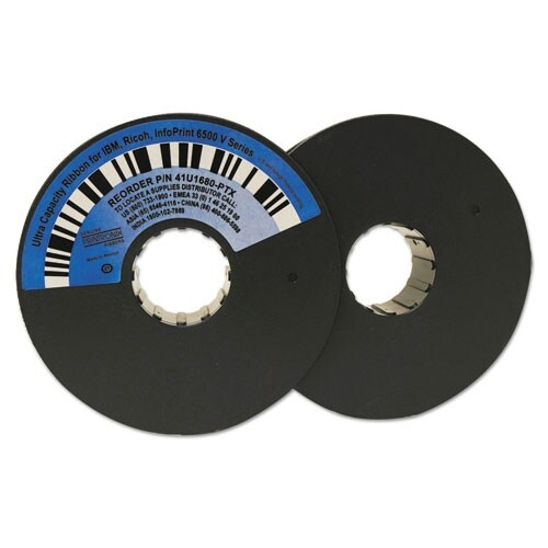 Printronix 41U1680PTX Twin Spool Ribbon Black Printer Ribbons