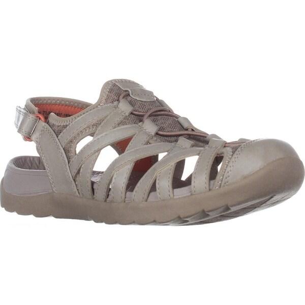 BareTraps Frenzi Flats Closed Toe Sandals, Taupe