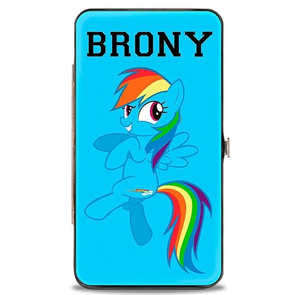 Brony Rainbow Dash + Cutie Mark Baby Blue Hinged Wallet - One Size Fits most