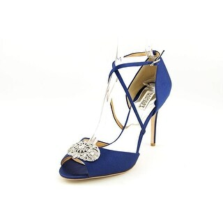 Badgley Mischka Sari Women  Open Toe Canvas Blue Sandals