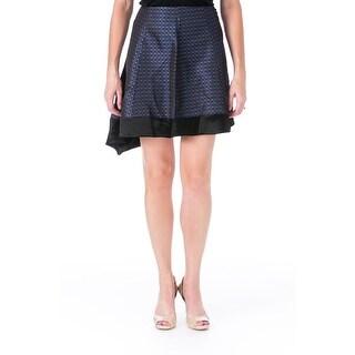 Elizabeth and James Womens Hennison Jacquard Printed A-Line Skirt