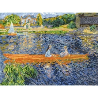 """Renoir The Skiff Counted Cross Stitch Kit-12""""X9"""" 16 Count"""