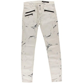 Black Orchid Womens Lose Your Marbles Mid-Rise Colored Colored Skinny Jeans - 32