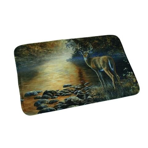 Sunset Deer Rustic Microfiber Memory Foam Bath Mat