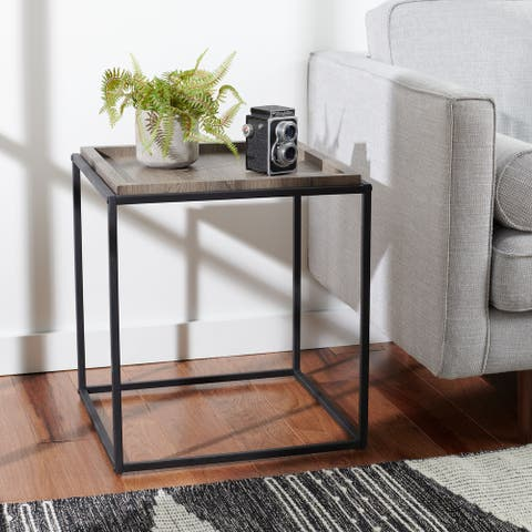 """SAFAVIEH Andey Square Accent End Table - 19.7"""" W x 19.7"""" L x 21.7"""" H"""