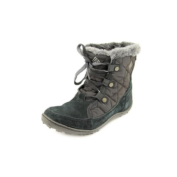Columbia Minx Shorty Women Round Toe Suede Black Winter Boot