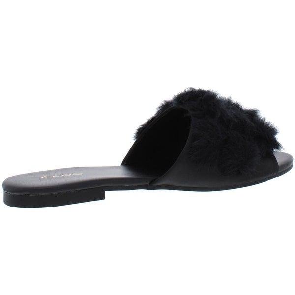 Shop Aldo Womens Pom Pom Slide Sandals