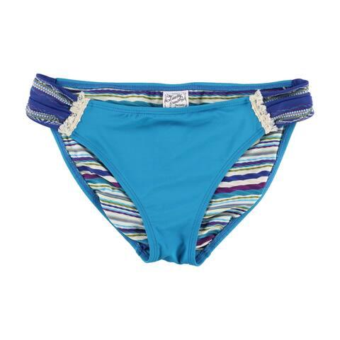 Lucky Brand Womens Ribbed Bikini Swim Bottom