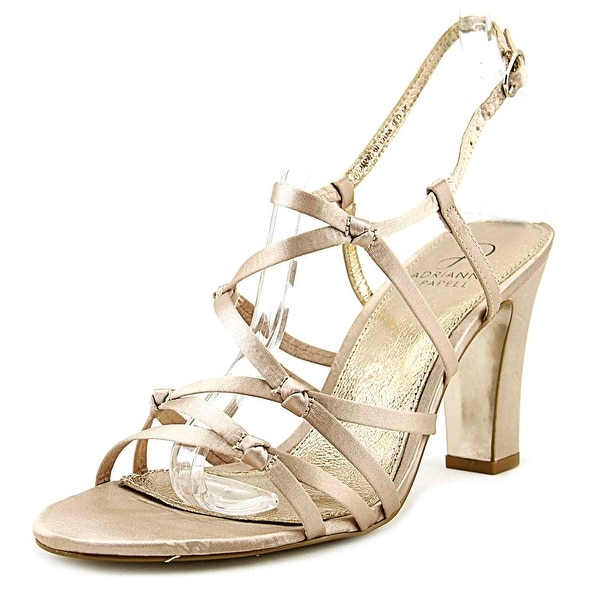 Adrianna Papell Genny Women Open Toe Canvas Bronze Sandals