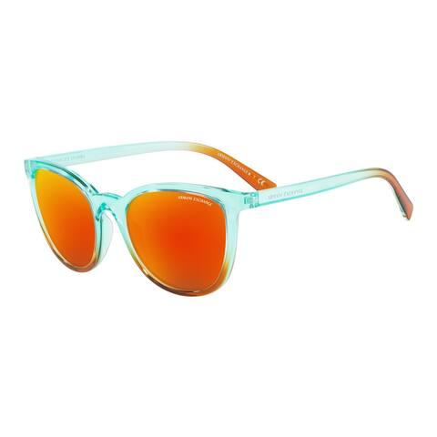 Armani Exchange AX4077S 82566Q 55 Transp Blue/transp Orange Woman Pillow Sunglasses