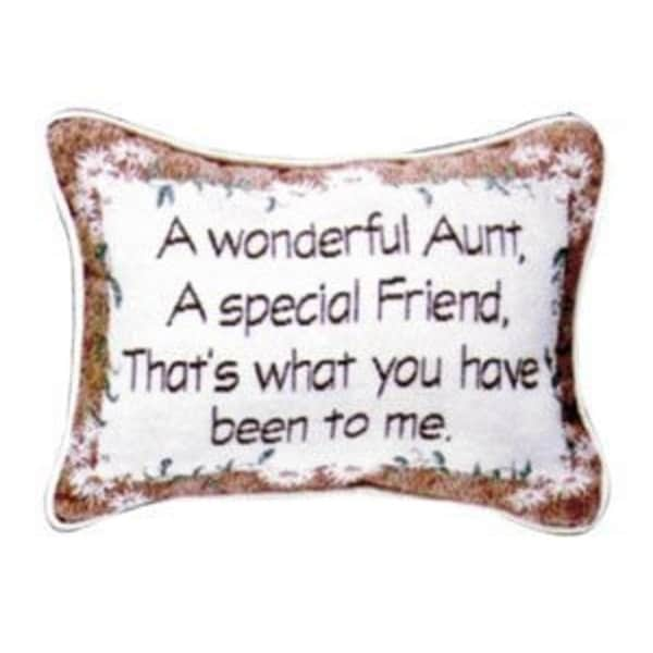 "Set Of 2 Wonderful Aunt Is A Special Friend Decorative Throw Pillows 9"" x 12"""