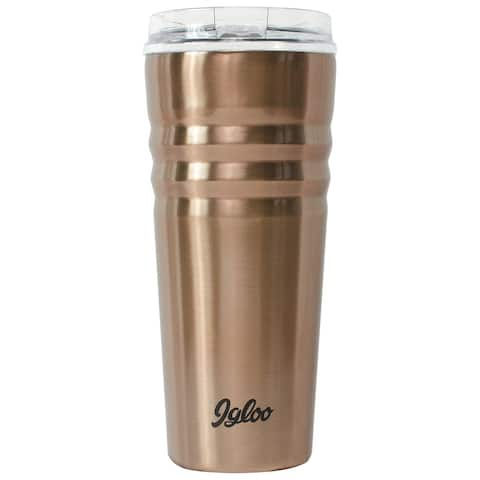 Igloo 70118 Legacy Stainless Steel Insulated Tumbler, Copper, 20 Oz