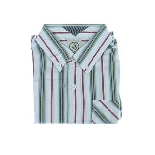 Volcom Boys Striped Short Sleeves Button-Down Shirt