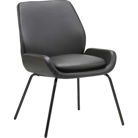 Lorell Bonded Leather U-Shaped Seat Guest Chair