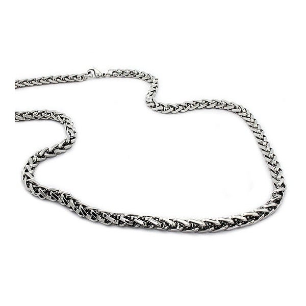 Stainless Steel Wheat Chain Necklace (6mm) - 24""